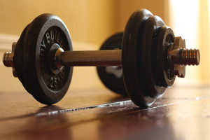 Dumbells for Sale by Andy Wagstaffe
