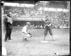 Washington Senators vs. White Sox, circa 1909.  Chicago History Museum / Getty Images